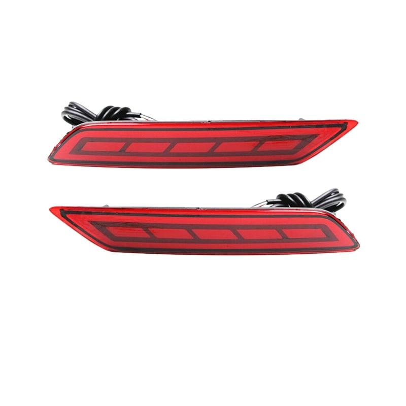 Para 2017-2018 Honda City lente roja LED Reflector trasero luces de freno traseras Foglight