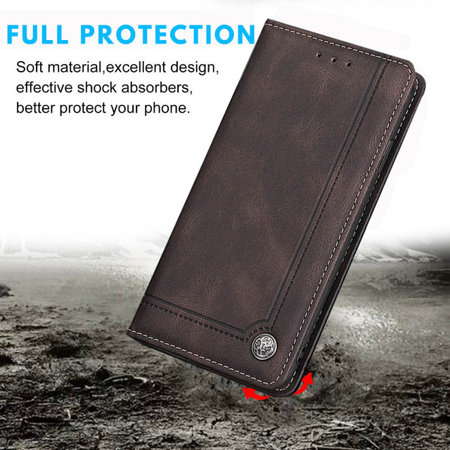Flip Vintage Leather Case For OPPO Realme 7 Pro 7pro Realme7 Case Book Soft Silicone Wallet Cover TPU Card Holder Accessories Phone Covers