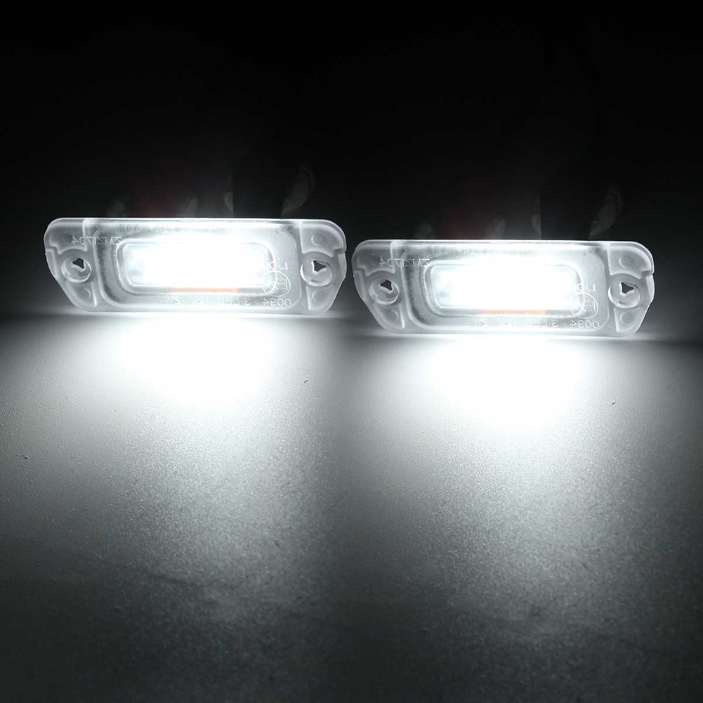1x Mercedes SL R230 Bright Xenon White 3SMD LED Canbus Number Plate Light Bulb