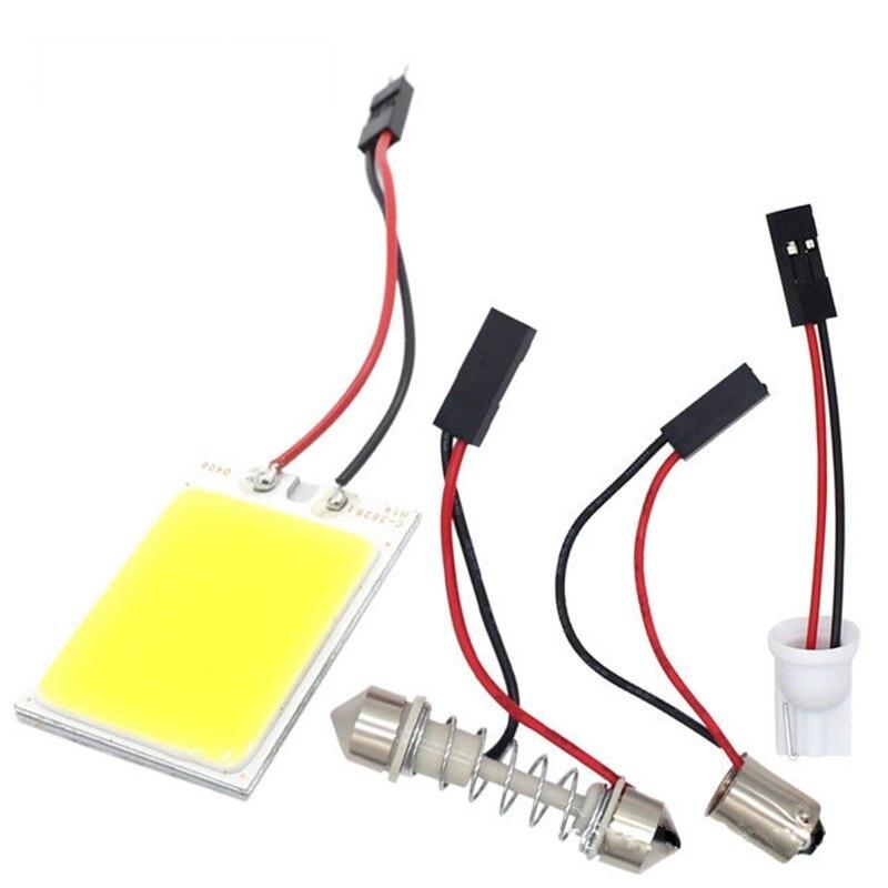 T10 C5W araba Led Cob 18 24 36 48SMD beyaz park ampul oto İç okuma Panel lambası süper parlak Festoon lisansı plaka ışık