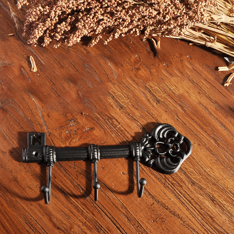 Vintage Home Wall Mounted Key Holder Clothes Hanger Corridors Indoor Decoration