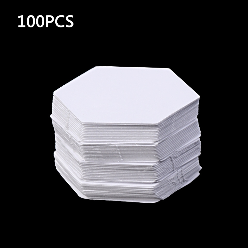 100Pcs Hexagon Templates For Patchwork Paper Quilting Sewing Craft DIY Six Sizes 448B