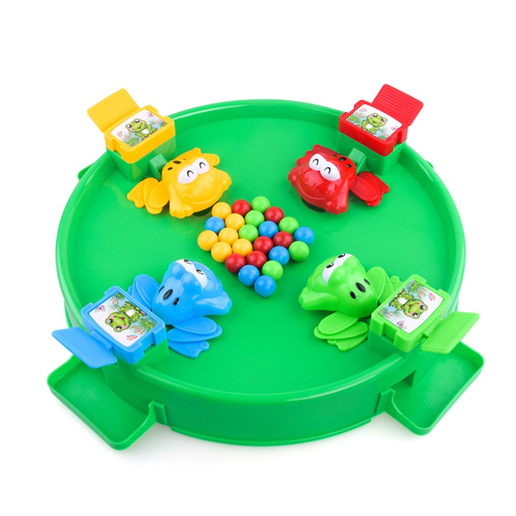 Funny Hungry Frog Eating Beans Board Strategy Games Toys For Children Interactive Desk Table Game Family Educational  Kid Gifts