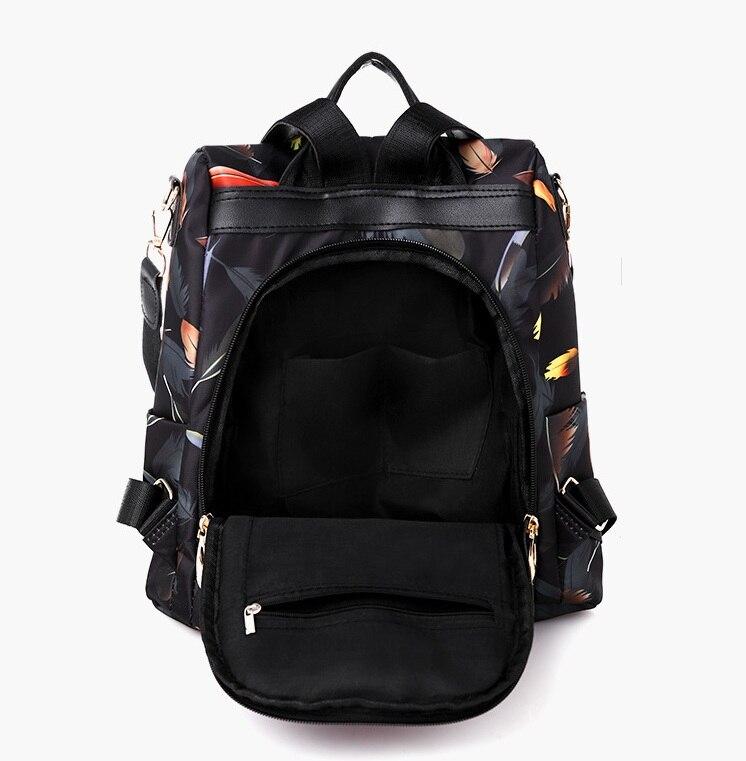 Hf37e351150014589bbdee92f54ce682fX 2019 New Women Backpacks Vintage Korea Brand Design Bag Travel Anti Theft Backpack Nylon High Quality Small Rucksack ZZL188