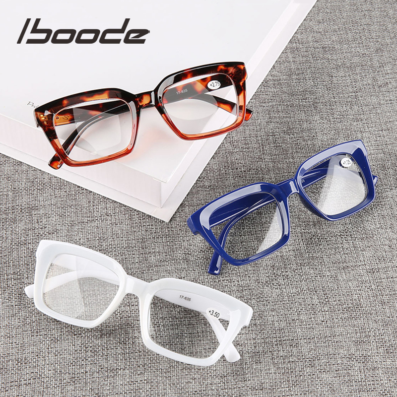 iboode 2019 New Square <font><b>Reading</b></font> <font><b>Glasses</b></font> <font><b>Men</b></font> Women Fashion Presbyopia Eyeglasses Diopter +1.0 1.25 1.5 1.75 2 <font><b>2.25</b></font> 2.5 2.75 3 3.5 image