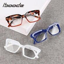 Iboode-gafas de lectura cuadradas para hombres y mujeres, anteojos de lectura unisex, a la moda, para presbicia, dioptrías + 2020 1,0 1,25 1,5 2 1,75 2,25 2,5 3 2,75, 3,5