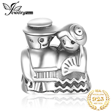 JewelryPalace 925 Sterling Silver Married Young Couples Husband And Wife Anniversary Wedding Bead Charm Fit Bracelets For Women цена