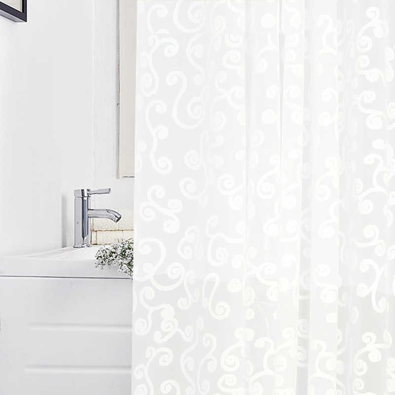 الرجعية سحابة نمط دش الستار بسيطة حوض الستائر PEVA شفافة الأبيض قالب مقاوم للماء برهان الحمام الهدايا دروبشيبينغ