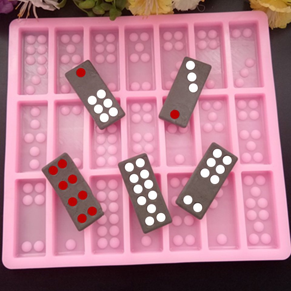Chocolat Casting Epoxy Dominos and Trays Domino Molds for Resin Soaps Bath Bomb