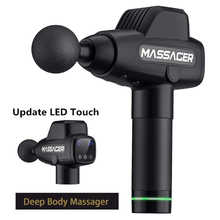 LCD Touch Massage Gun Fashion Multifunctional Vibro Body Neck Foot Mucle Massager Deep Tissue Muscle Relaxing Machine 20 Speeds
