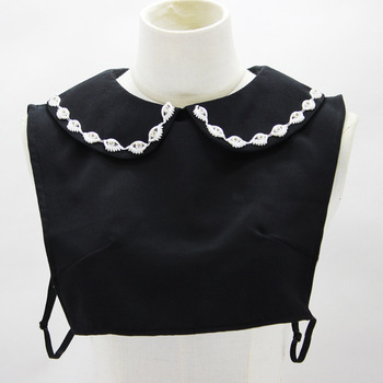 Black Diamond Decoration Lead Doll Dickie Detachable Fake Collar Necklace Shirt Women