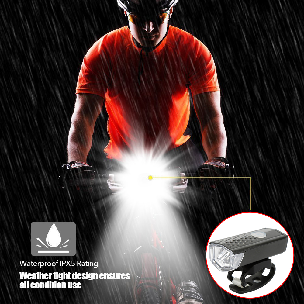 Image 3 - Bike Cycling Lights LED Bicycle Front Head light+Tail light Set MTB Bike Rear Lights Cycling Lamp Flashlight Bicycle accessories-in Bicycle Light from Sports & Entertainment