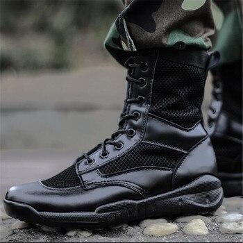 De malla de botas militares de Hombre ligera y transpirable de verano...