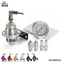 Regulador de presión de combustible ajustable tipo S  FPR turbo Jdm Universal + calibrador líquido 0-160 Psi para Scion FRS HU-FPRT81S
