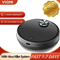 Viomi v3 lds navegação a laser robô aspirador de pó, 2600pa molhado e seco para o cabelo do animal estimação varrendo esfregar mestre
