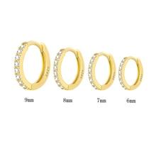 Sterling Silver Women/Men Small Hoop Earrings Ear Nose Ring SA