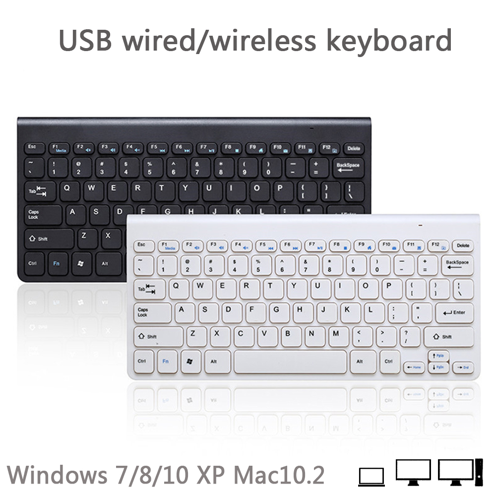 New USB Wired/wireless Keyboard Small Portable Keypad For Laptop Gaming Pc Clavier Windows 7/8/10 XP Mac10.2 System
