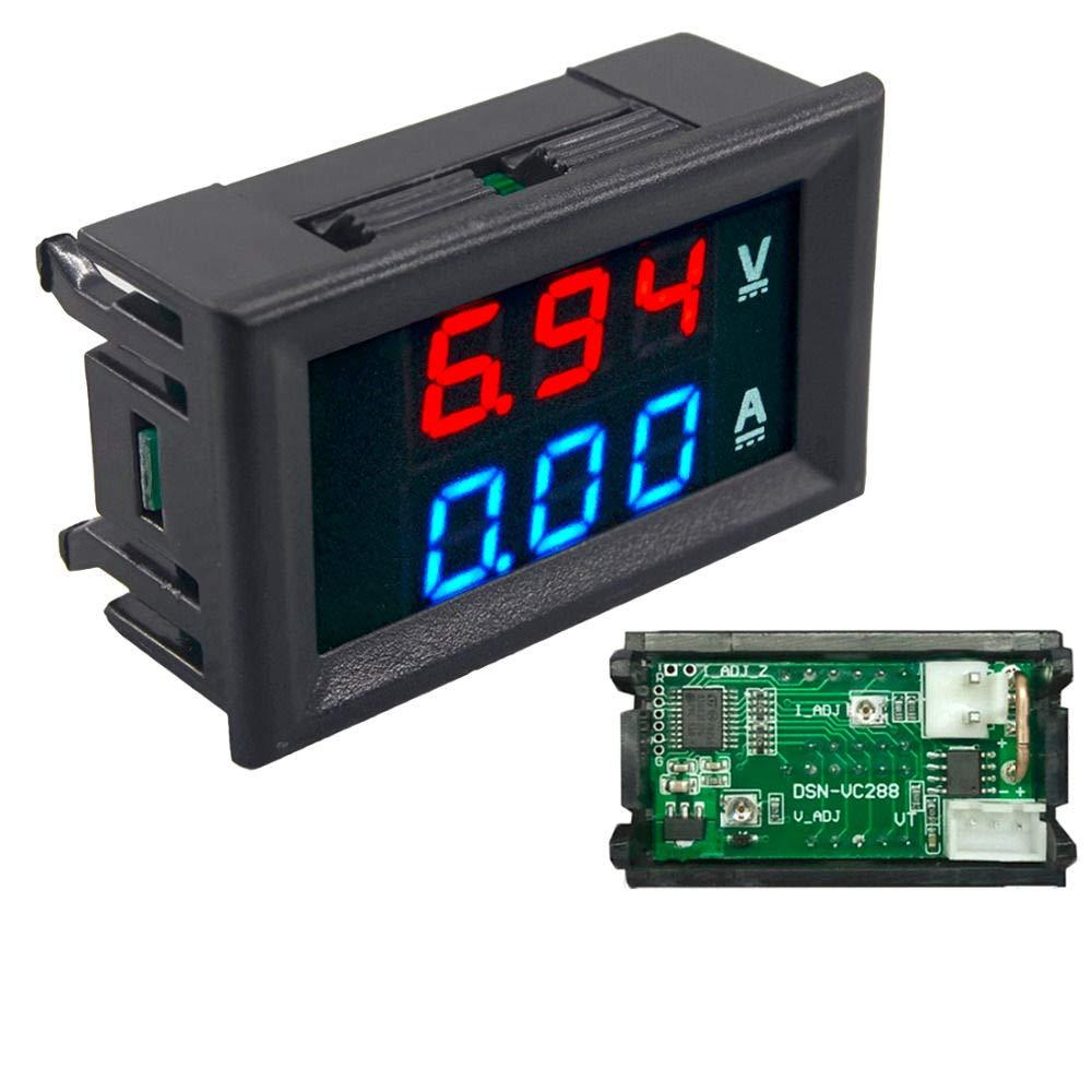 1pc DIY DC100V 10A Voltmeter Ammeter Blue Red Dual Amp Volt Voltage Current Meter Gauge Tester Panel Digital LED Display For Car