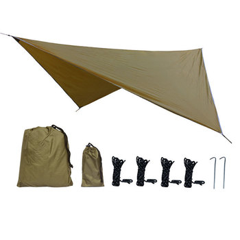 350x280cm Waterproof Tarp Tent Shade Outdoor Camping Hammock Rain Fly UV Garden Awning Canopy Sunshade Ultralight 5 Colors