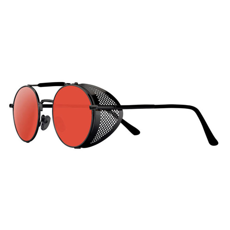 Стимпанк Солнцезащитные очки мужские металлические винтажные круглые панк Солнцезащитные очки женские боковые защитные очки ретро