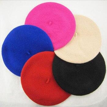 Girls Boys Kids Hats New Wool Warm Beret Casual Baby Winter Hats Wool Painter Children Bonnet Caps S
