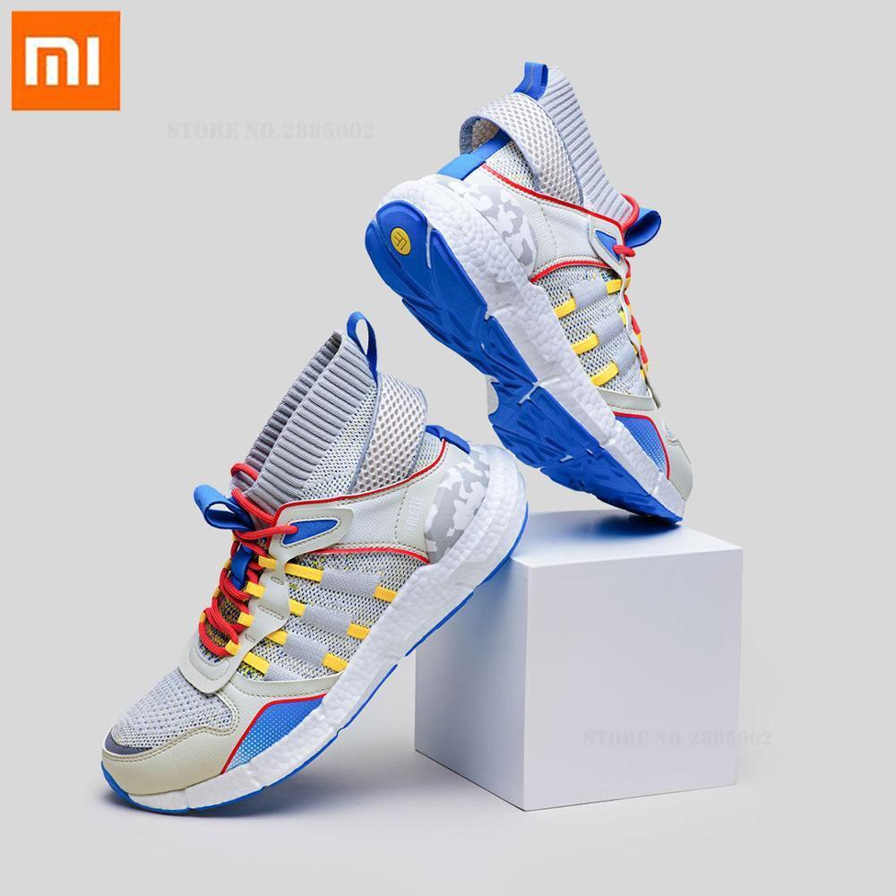 Xiaomi FREETIE tendance baskets hommes nuage élite pop-corn poisson os soutien en cuir couture supérieure respirant chaussures de course en plein air