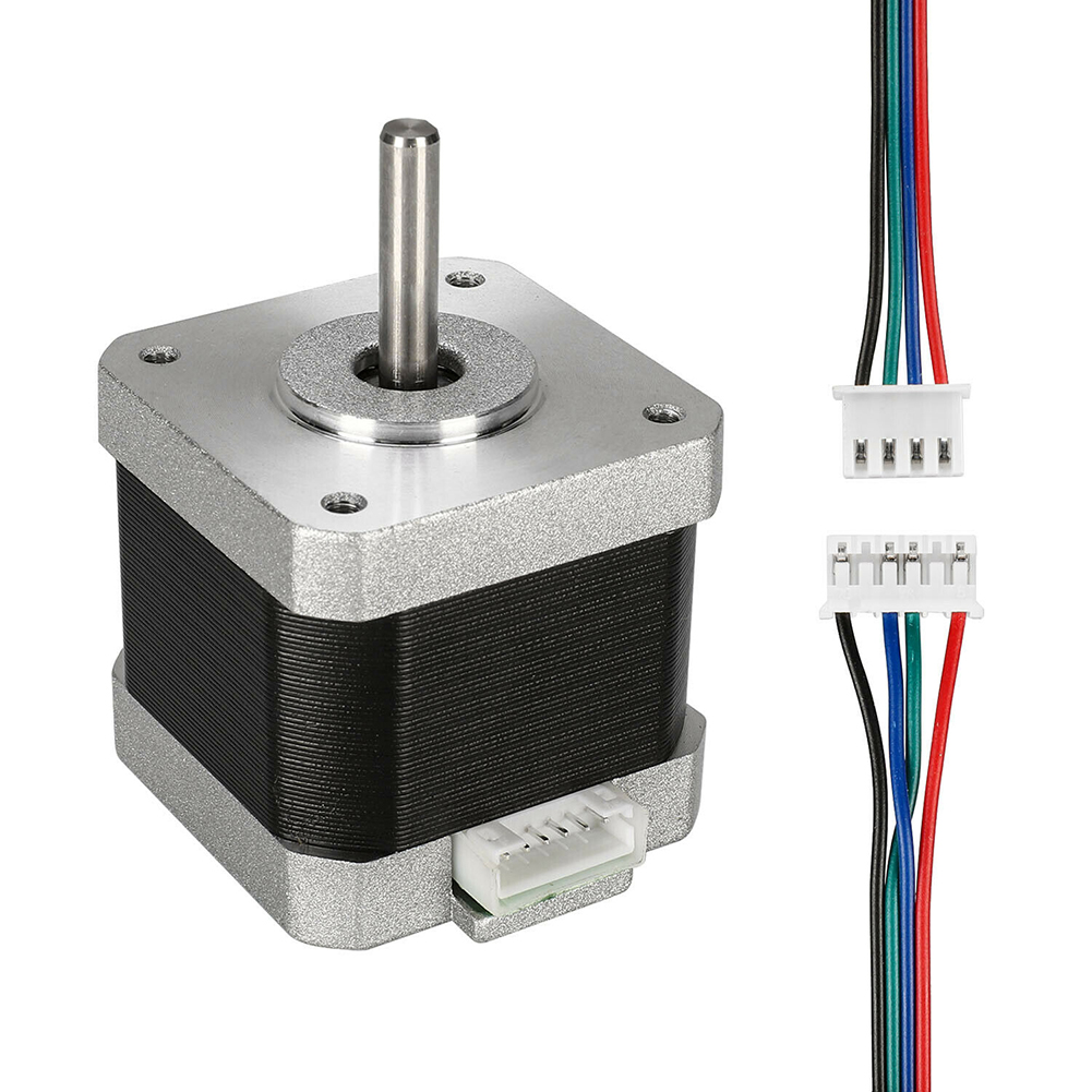 5pcs Nema 17 Stepper Motor 0.4N.M 42mm Height 4-lead Stepping Motors 1.8° Drive Motor For 3D Printer CNC Accessories