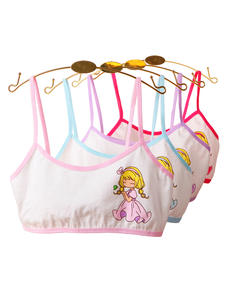 Teenage Underwear Bras Puberty-Clothing Training Young Girl Kids Summer Cotton for 4pcs