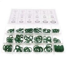 270 unids/lote junta de aislamiento de goma sellos de arandela compresor de aire acondicionado del automóvil Junta anillo O anillo caja de reparación