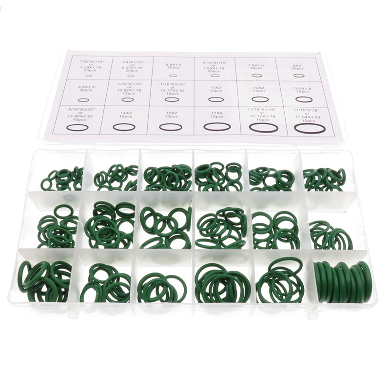 270pcs/lot Rubber Insulation Gasket Washer Seals Automobile Air Conditioner Compressor Seal Ring O Ring Repair Box-in A/C Hoses & Fittings from Automobiles & Motorcycles