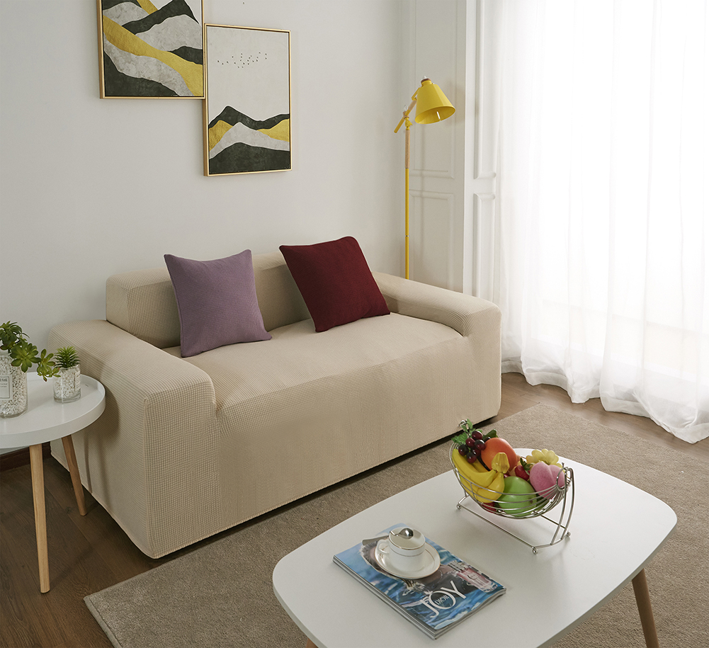 MEIJUNER Waterproof Sofa Cover in Solid Color with High Stretchable Slipcover for Dining Room 20