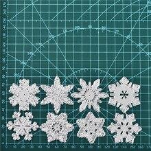 Naifumodo 8pc Snowflake Cutting Dies Christmas Metal Stencils Die Cut for DIY Scrapbooking Album Card Embossing