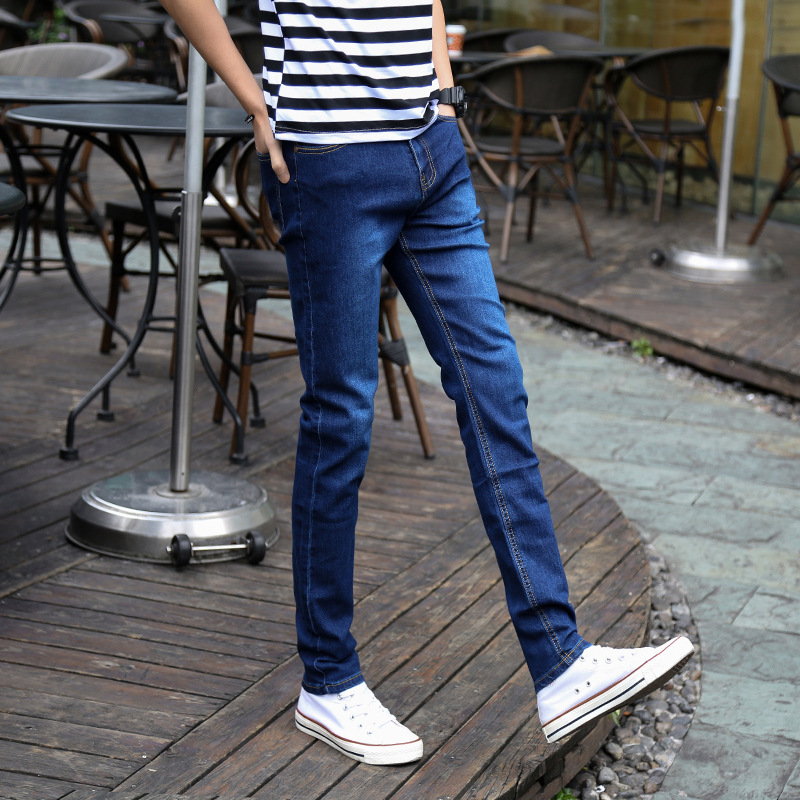 Korean-style Slim Fit Pants Jeans Socks Spring And Autumn Trend Casual Trousers Men Handsome Versatile Pencil Pants