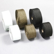 1M Roll Car Motorcycle Exhaust Header Pipe Insulation Heat Wrap Tape With 2 Cable Ties 8Colors For Moto Auto Accessories