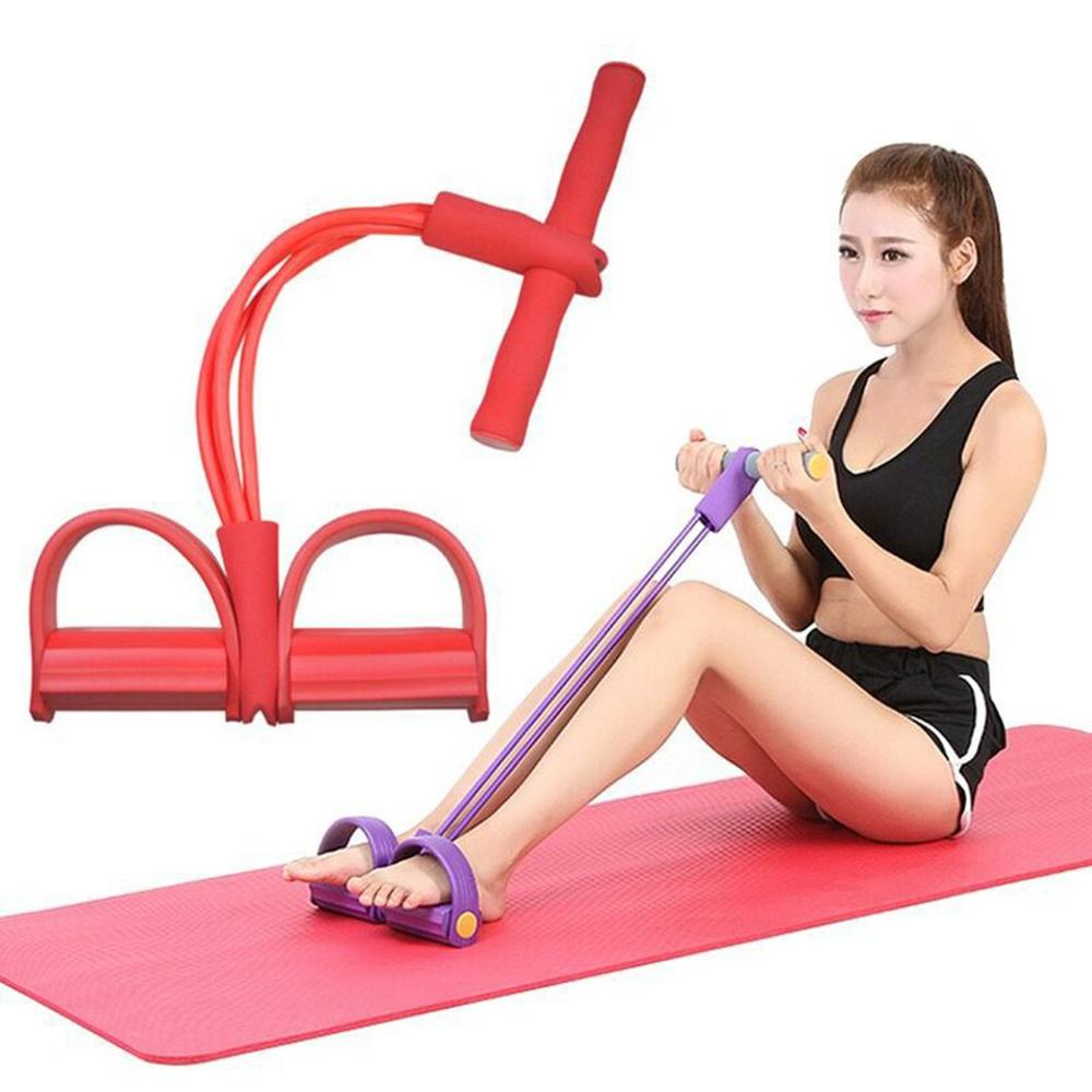 Multi-function Two-tube / Four-tube Tractor Pedal Pedal Pedal Elastic Rope Calf Rope Sit-ups Abdomen Leg Tensioner Foot Puller