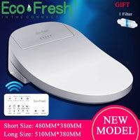 Ecofresh Intelligent Toilet Seat Electric Bidet Cover Smart Bidet heated toilet seat Led Light Wc smart toilet seat lid