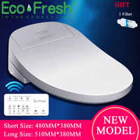 Ecofresh Sedile del Water Intelligente Elettrico Bidet Copertura Smart Bidet riscaldato sedile del water Led Luce Wc sedile intelligente Wc coperchio
