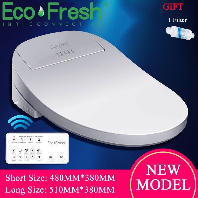 Ecofresh siège de toilette Intelligent couverture de Bidet électrique Bidet Intelligent siège de toilette chauffant lumière LED Wc couvercle de siège de toilette Intelligent