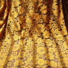 1 Yard=1 lot flowers lace fabric 2019 HOT Chinese cheongsam dresses gowns fabric! Yellow, Green nice!