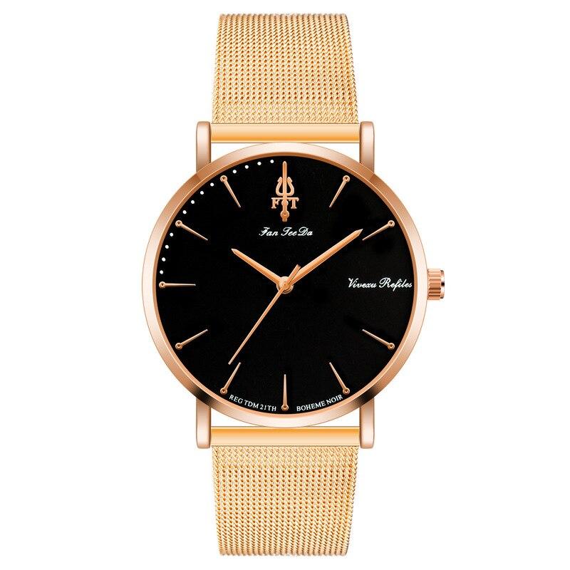 JOOM Hit Men Watches Steel Mesh Belt Contracted Watches Leisure Male Students Quartz Watch Factory Direct Sale