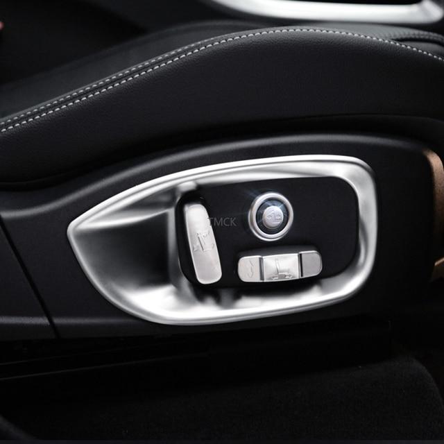 Car Accessories Seat Adjustment Button Frame Trim Decorative Cover Stickers For Jaguar F-Pace f pace X761 XE X760 XF/XFL X260 2