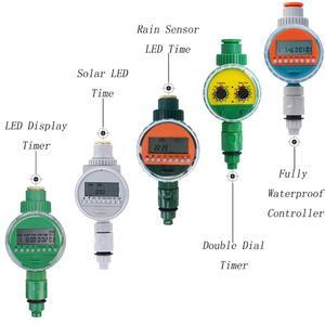 5 видов садовой воды таймер дождевой датчик Солнечный ЖК двойной циферблат контроллер орошения полностью водонепроницаемый контроллер оро...