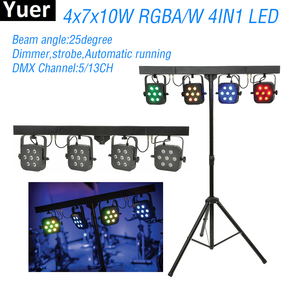7x10w Rgba W 4in1 Led 4 Par Light Kit