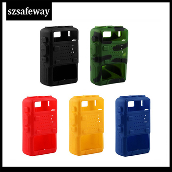 2PCS/LOT Two Way Radio Rubber leather Case Silicone Cover Walkie Talkie Bag For BAOFENG UV-5R UV-5RE Plus UV-5RB/C - discount item  12% OFF Walkie Talkie Parts & Accessories