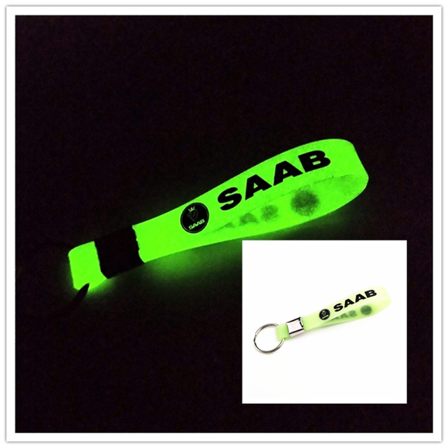 Luminous Silicone Car sticker Key Ring For Ford VW GOLF skoda bmw audi BENZ TOYOTA SAAB OPEL Car Styling Accessories Automobiles 3