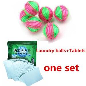 Pack de 6 uds. De Bolas Mágicas para la eliminación del vello de la ropa 40 Uds. Para la colada de sábanas, conjunto de ropa para el cuidado Personal