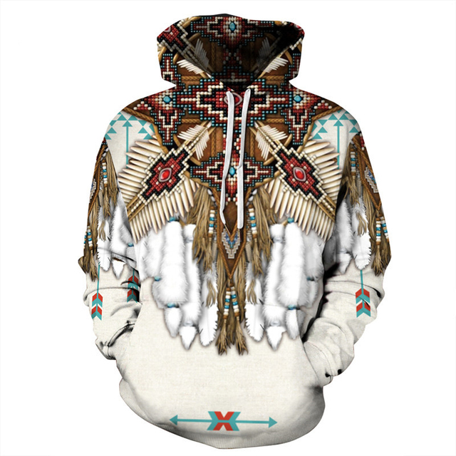 Indian Bohemian European and American Fashion Lovers  Hoodie Men's Loose Large Size 3D Printed Men's Hoodie Goes With Everything 5