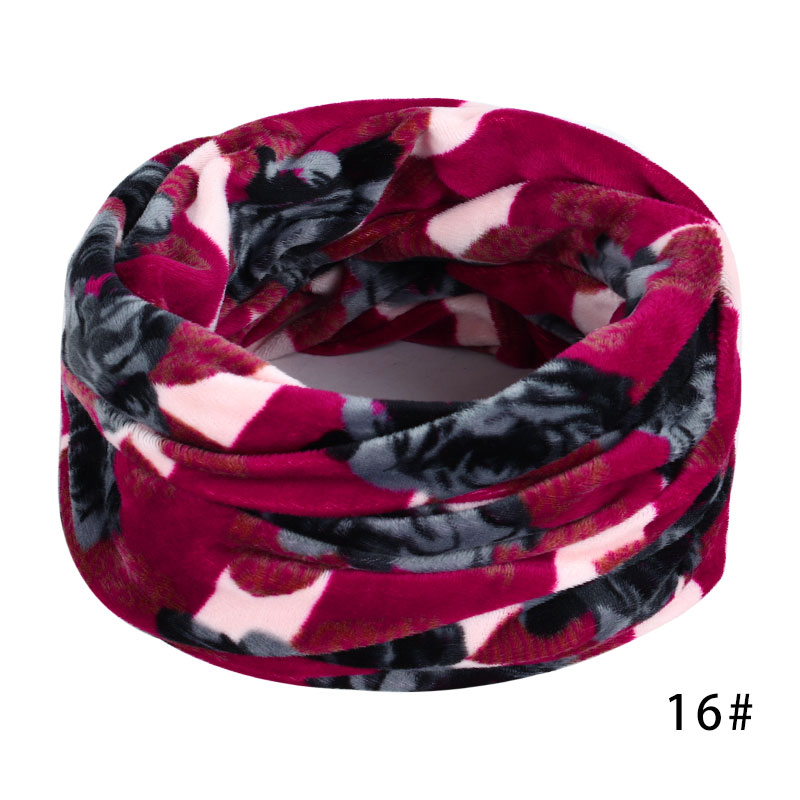 Новинка, осенне-зимний женский шарф с принтом для женщин, модный бархатный тканевый шарф, мягкий удобный женский винтажный шарф - Цвет: 16