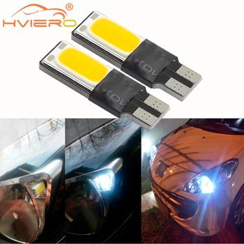 T10 Turn Signal License Plate Lights Trunk LED Canbus W5w Bulb COB Auto Car Led Parking Day Light Side Marker Dome Reading Lamp 2pcs white t10 wedge light 194 168 6w cob led car canbus no error side signal lamp bulb auto reading number plate lights