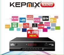 Kepnix nano 4pcs h.265 sunplus cpu hevc receptor de satélite suporta powervu autoroll biss 3g modem 2xusb porto 1ptv